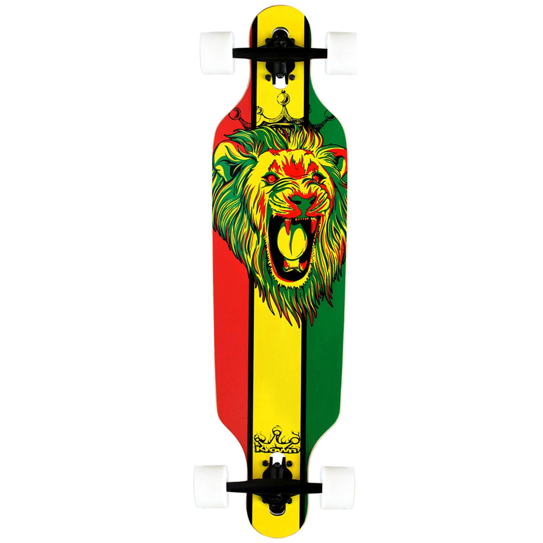Krown Longboard Complete Elite Drop Through Rasta Lion 9.25″ x 36″