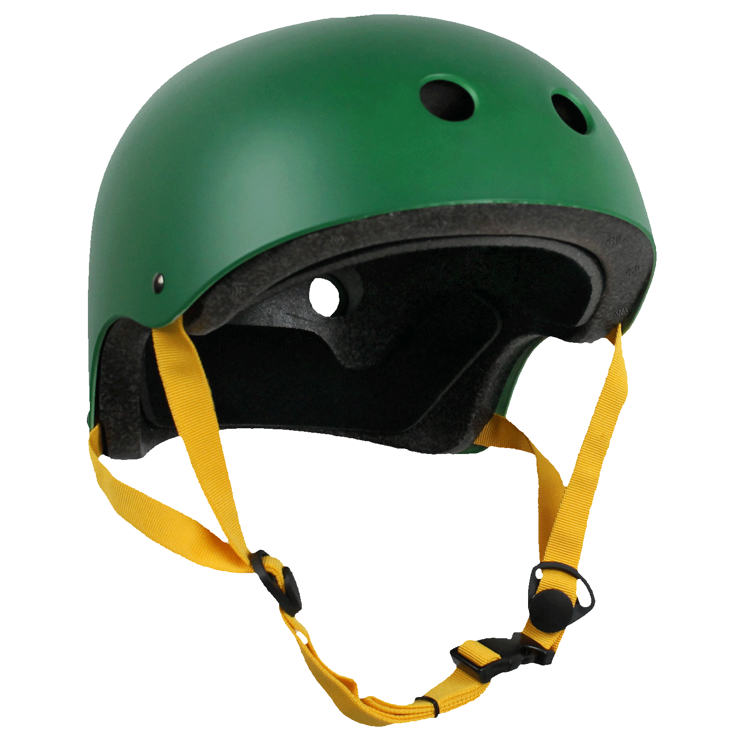 Krown Adult Skateboard Helmet Hunter Green/Yellow OSFA