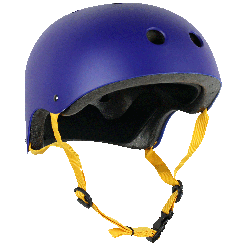 Krown Adult Skateboard Helmet Navy/Yellow OSFA