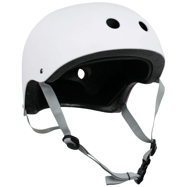 Krown Adult Skateboard Helmet White/Gray OSFA