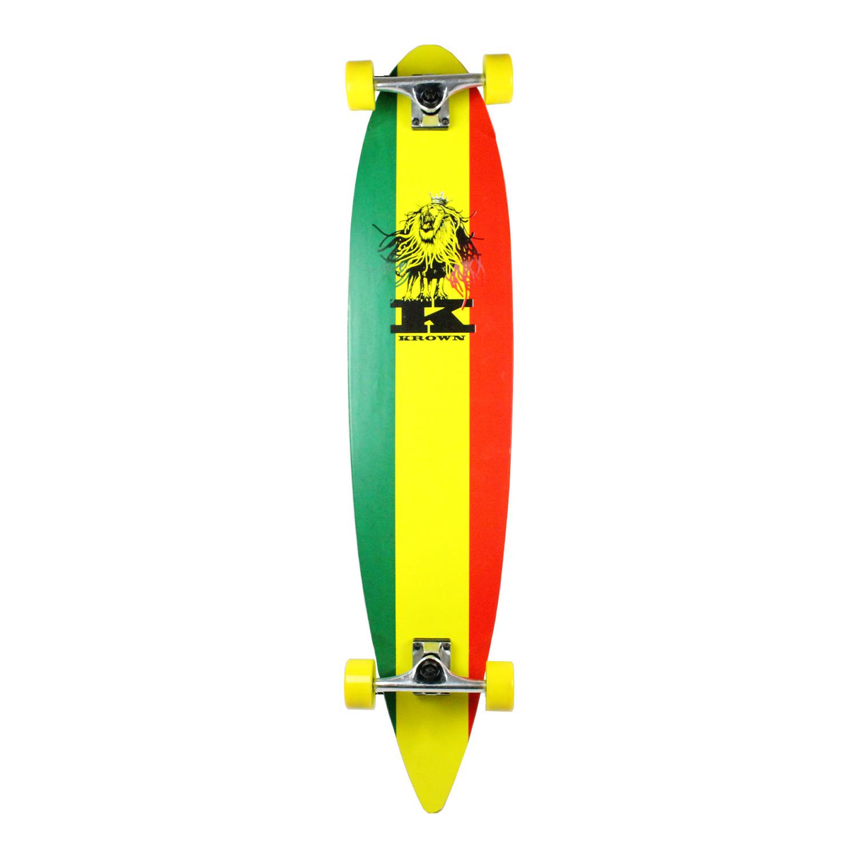 Krown Longboard Complete Pintail Rasta 9″ x 43″