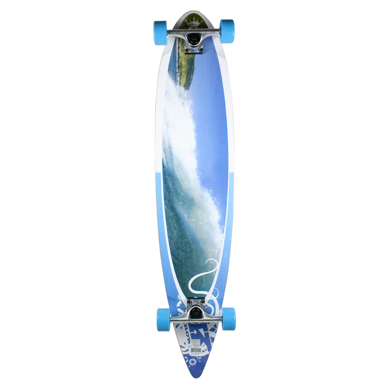 Krown Longboard Complete Pintail Wave Crest 9″ x 43″