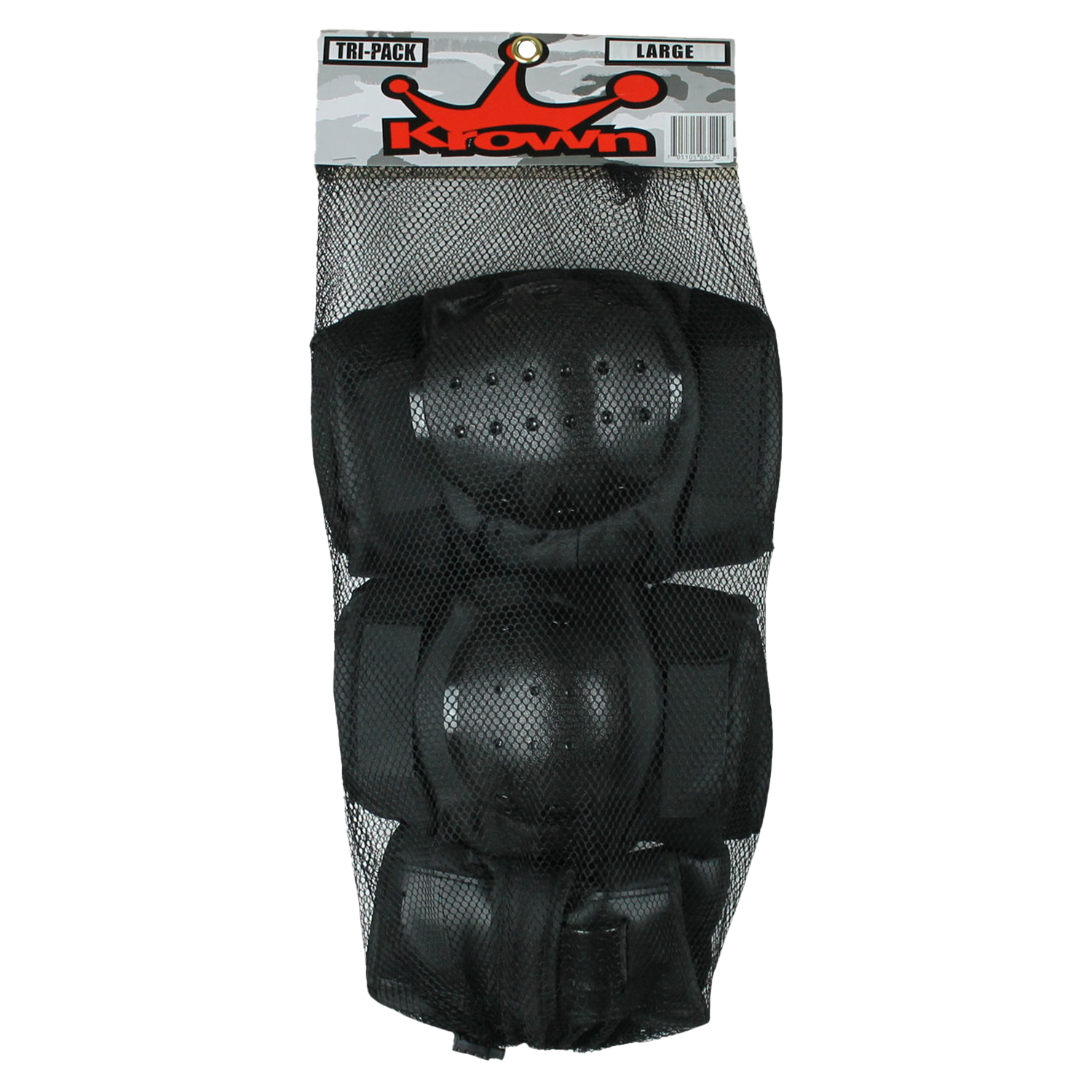 Krown Tri-Pack Skateboard Pads - Knee/Elbow/Wrist - Size Large