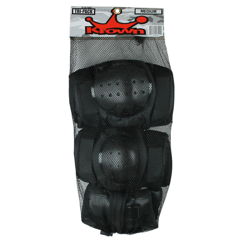 Krown Tri-Pack Skateboard Pads - Knee/Elbow/Wrist - Size Medium