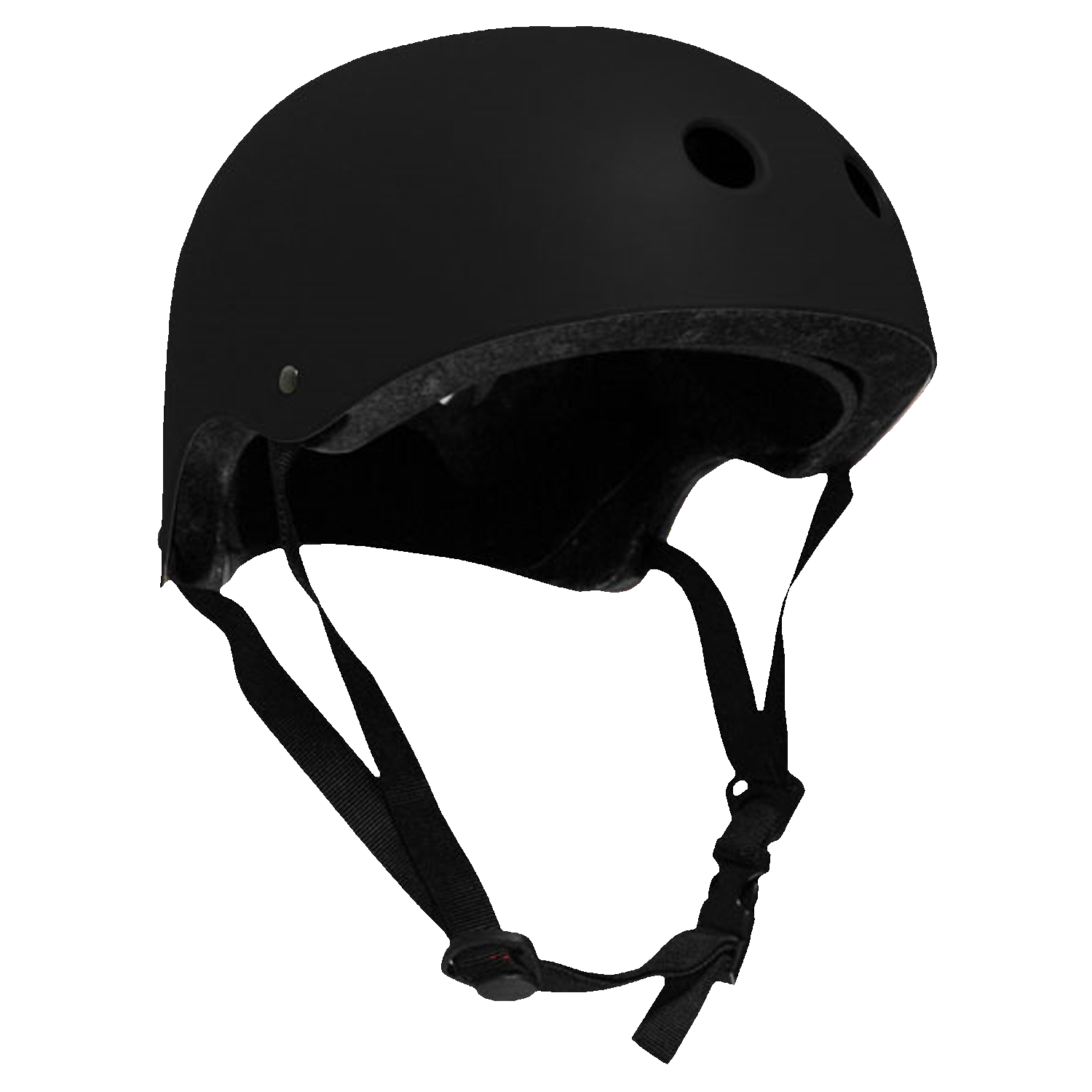 Krown Adult Skateboard Helmet Black OSFA