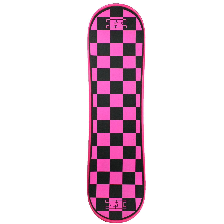 Krown Snowskate Pink Checkers 9in x 32in